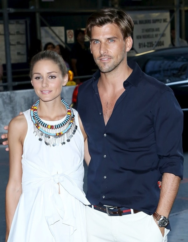 Olivia Palermo posing with her model-turned-photographer boyfriend Johannes Huebl