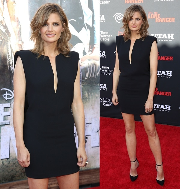 Stana Katic at the world premiere of Disney's 'The Lone Ranger' in Anaheim, California, on June 22, 2013