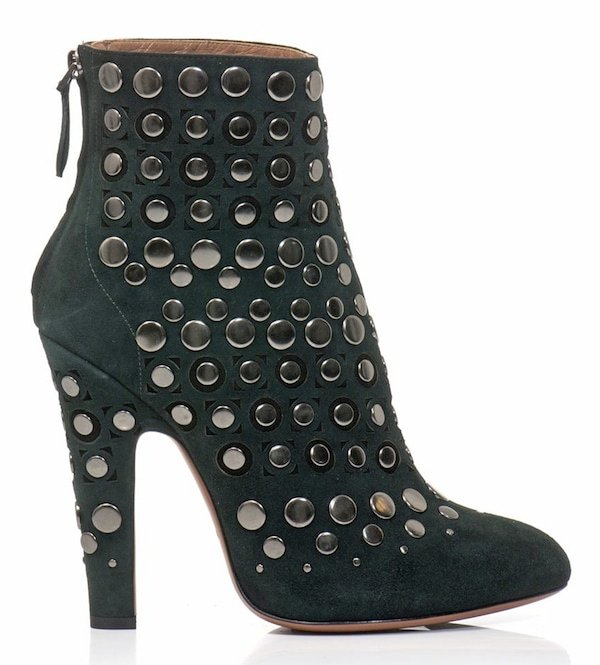 Azzedine Alaia Studded Suede Ankle Booties
