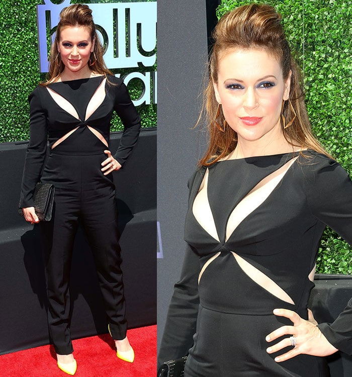 Alyssa Milano's Stella McCartney jumpsuit was perfect