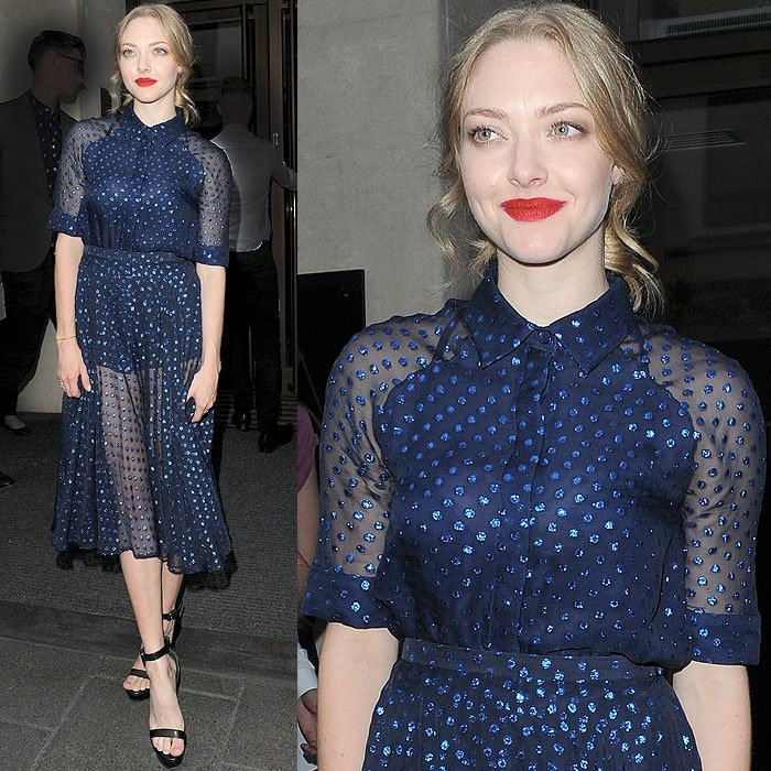 Amanda Seyfried on her way to the 'Lovelace' screening