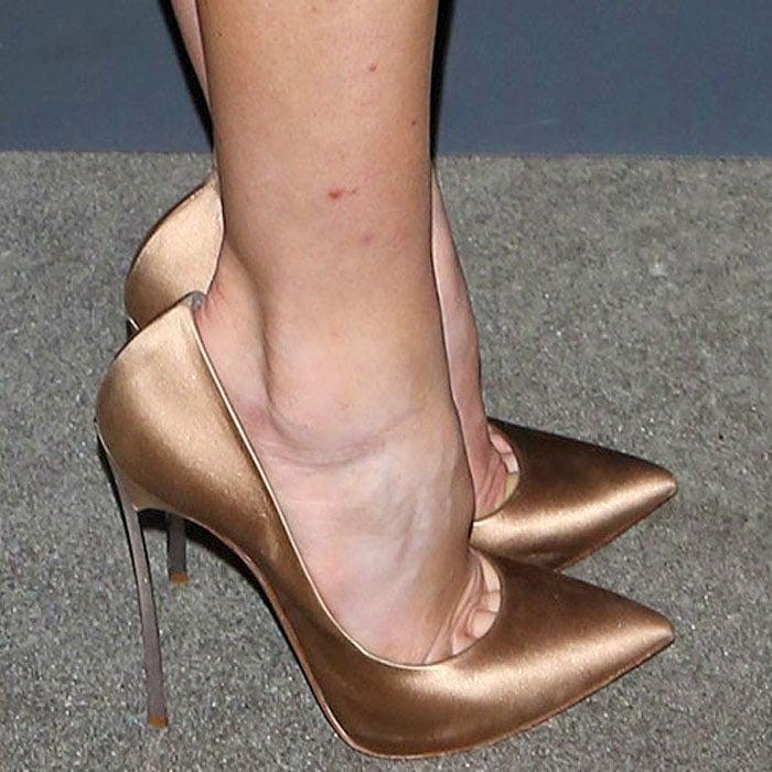 Analeigh Tipton's hot feet in Casadei Blade pumps