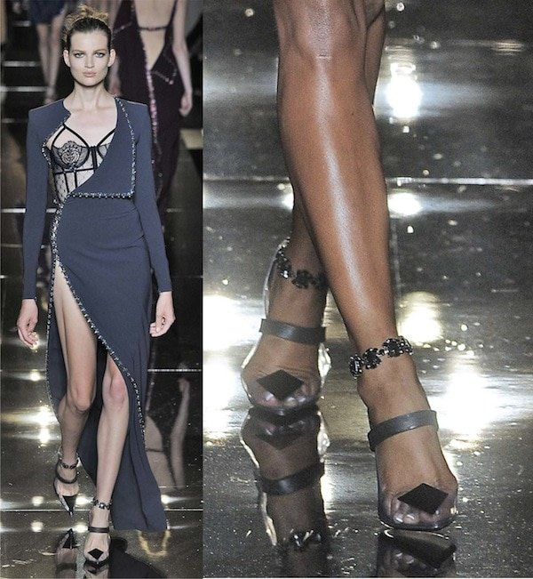 The Versace look from the runway of Paris Haute Couture Fashion Week in July 2013