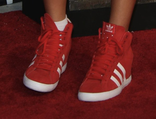 Becky G in comfortable Adidas sneakers