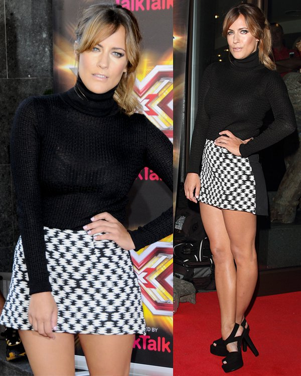 Caroline Flack at The X Factor press launch held at The May Fair Hotel in London on August 29, 2013