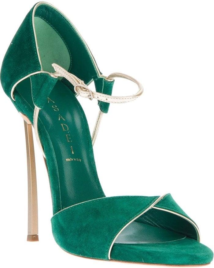 Casadei Open-Toe Suede Sandals