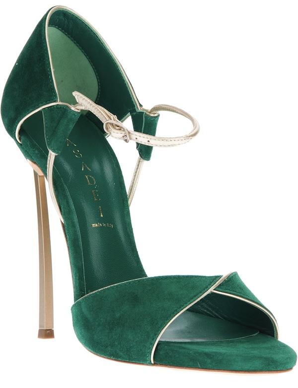Green Casadei Open-Toe Sandals