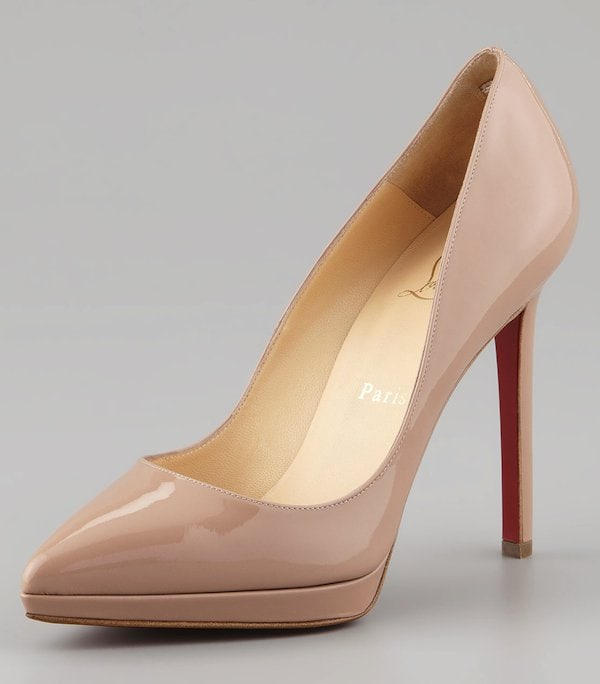 """Christian Louboutin """"Pigalle Plato"""" in Nude"""