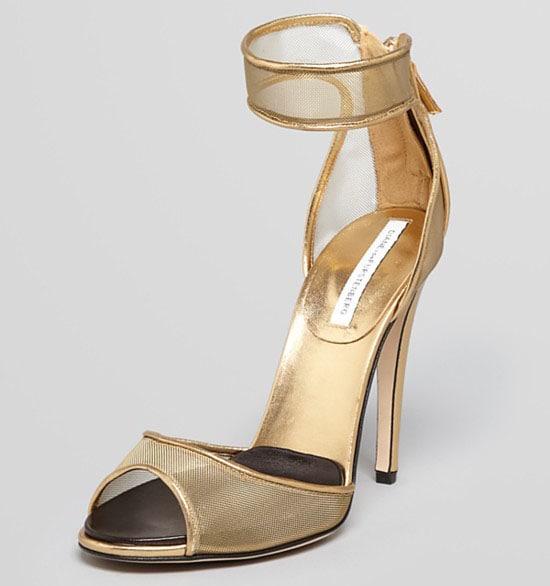 Diane von Furstenberg Rae Metallic Mesh Sandals