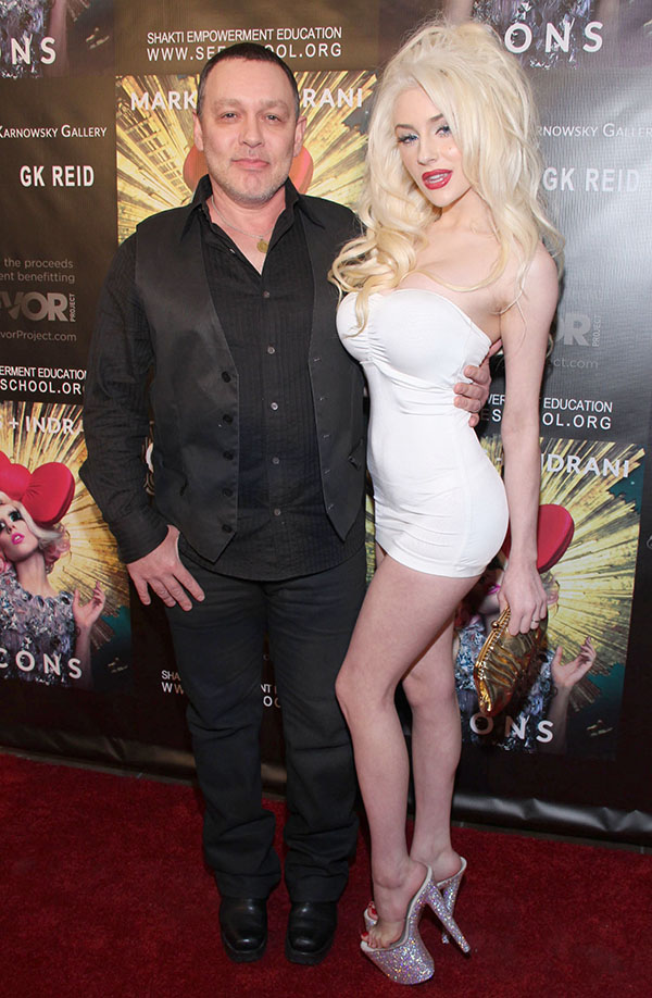 Courtney Stodden and Doug Hutchison at the Markus + Indrani Icons Book Launch Party in Los Angeles on January 10, 2013