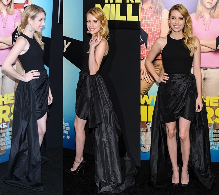 Emma Roberts looking gorgeous in a Michael Kors dress