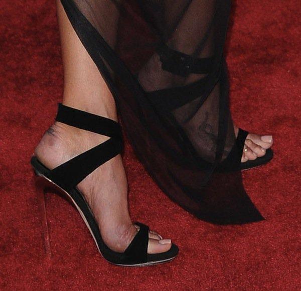 Erin Wasson wearing Giuseppe Zanotti sandals