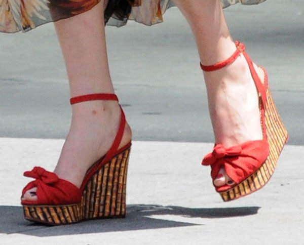 Florence Welch rockingwedges from Charlotte Olympia's Cruise 2013 Collection