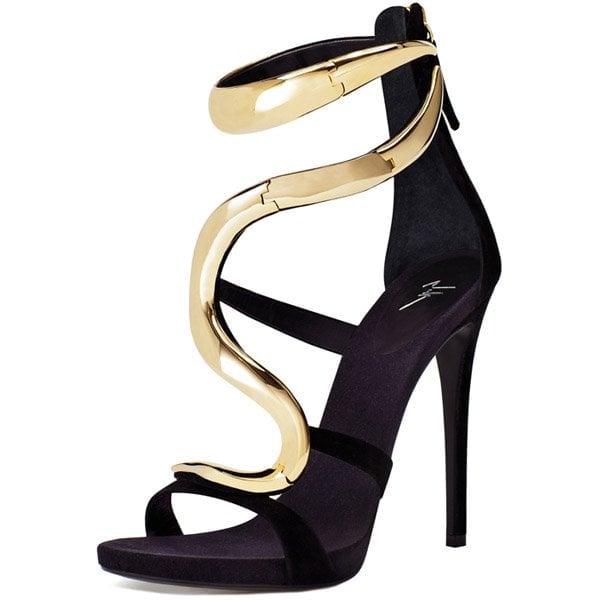 Giuseppe Zanotti Wave Sandals Black