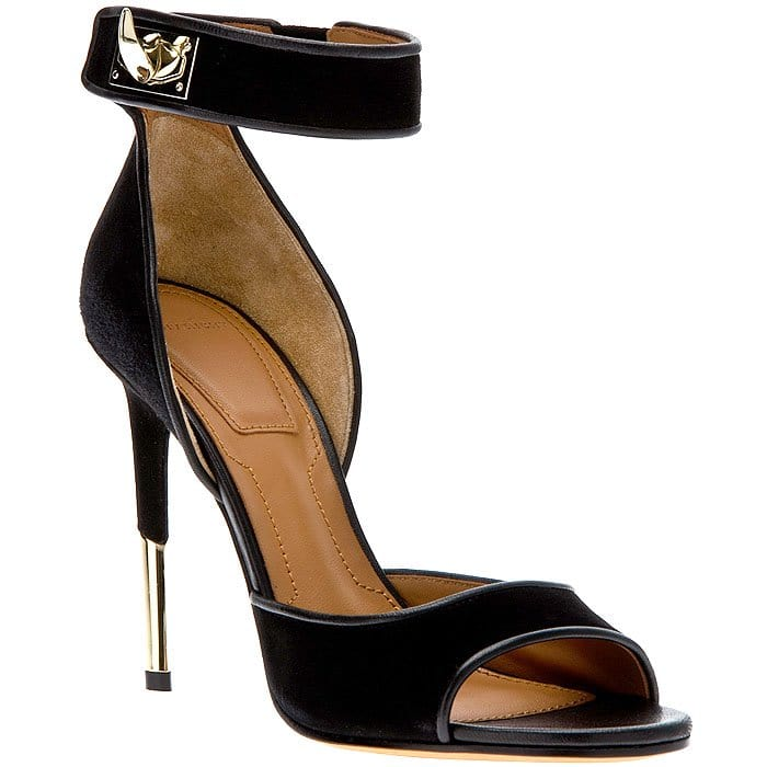 Givenchy Shark-Tooth Lock Sandals