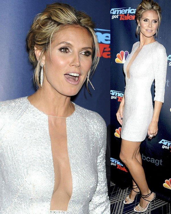 Heidi Klum at the 'America's Got Talent' post-show red carpet at Radio City Music Hall in New York City on August 21, 2013