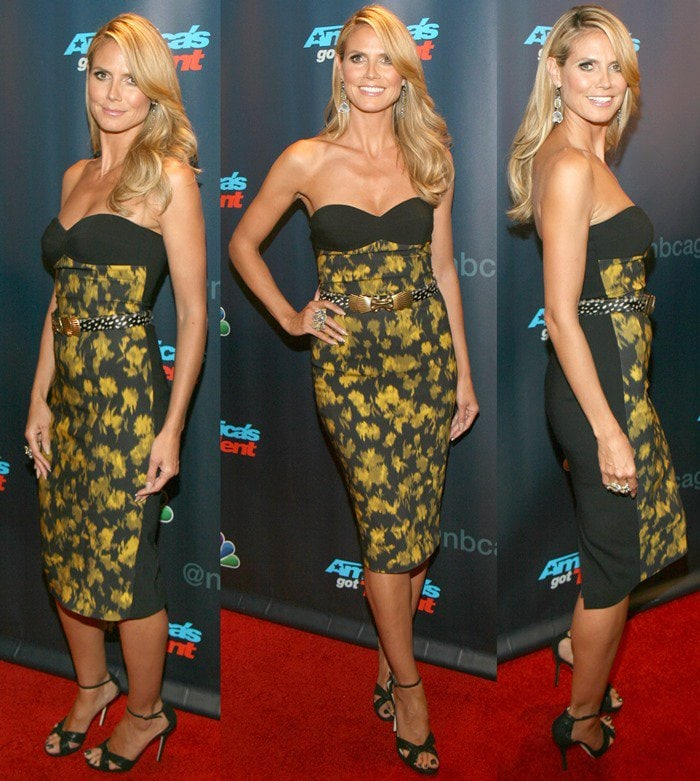 Heidi Klum at a red carpet event for America's Got Talent at Radio City Music Hall in New York City on July 31, 2013