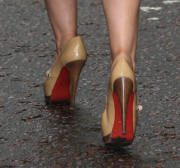 Heidi Range shoes Daybreak ITV interview
