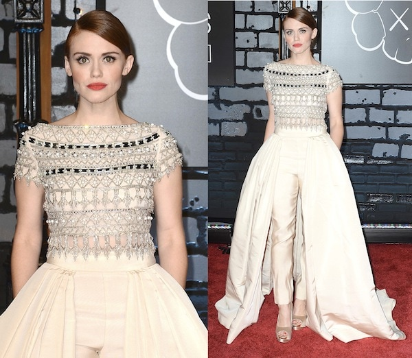 Holland Roden was named one of the best dressed of the night by many online media outlets