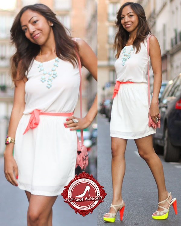 Holy shows how to style a chic white summer dress
