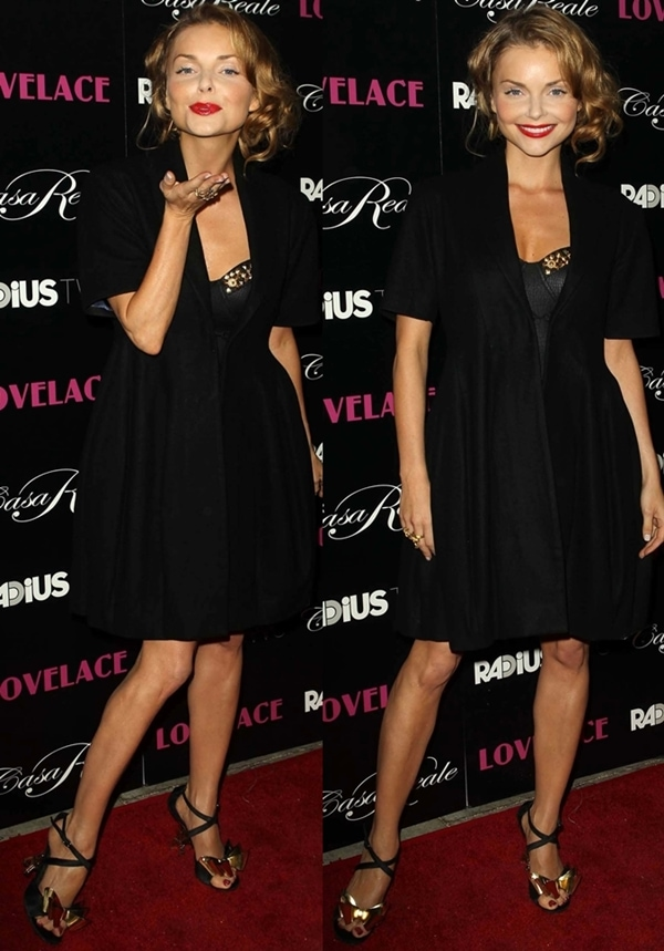 Izabella Miko flaunts her hot legs at the LA premiere of Lovelace