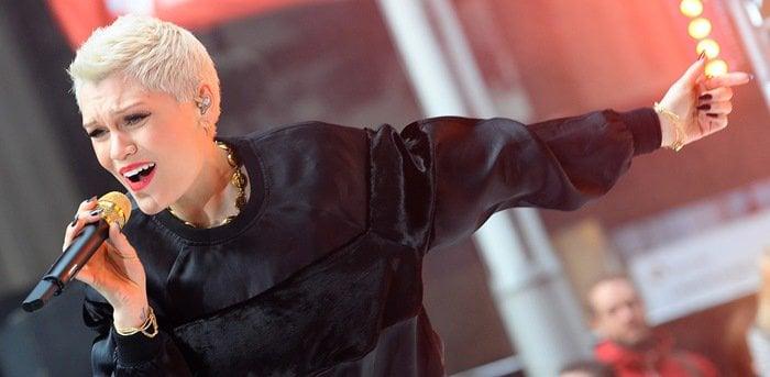 Jessie J performs on the Australian TV show 'Sunrise' on August 23, 2013