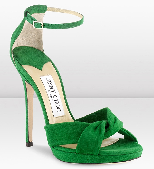 Jimmy Choo Jada Sandals Green