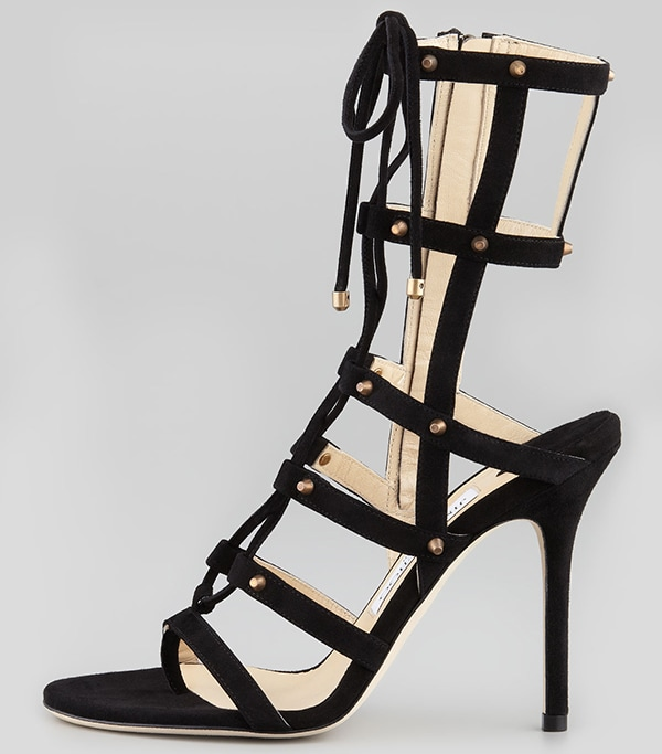Jimmy Choo Meddle Cage Gladiator Ankle Boots