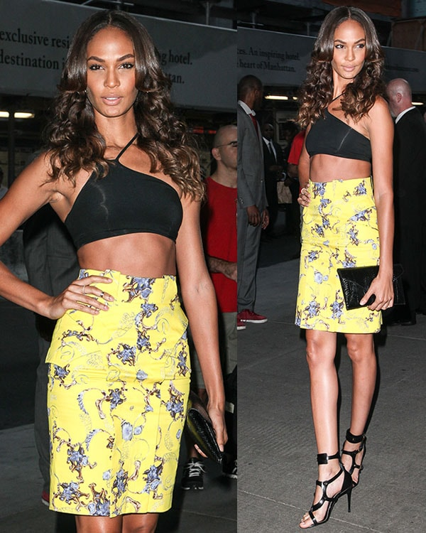 Joan Smalls at The Cinema Society and MCM with Grey Goose screening of Radius TWC'sLovelaceat Museum of Modern Art on July 30, 2013