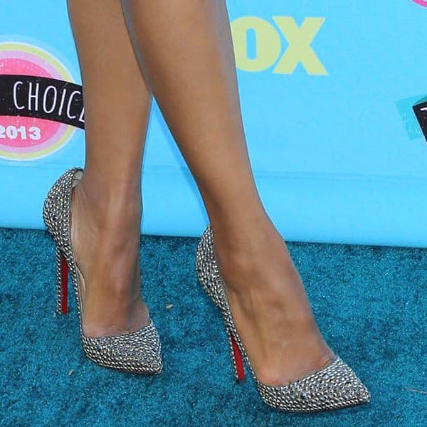 Kerry Washington in Christian Louboutin Pigalle Strass pumps