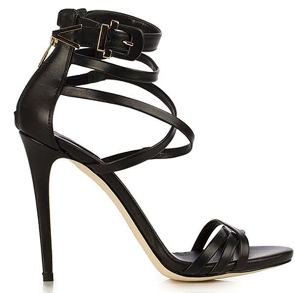 Le Silla Strappy Sandals Black