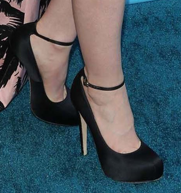 Lily Collins in Brian Atwood 'Zenith' Pumps