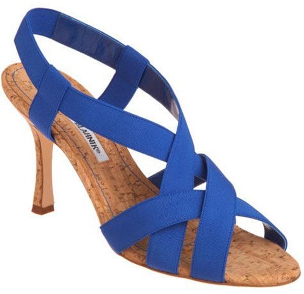 Manolo Blahnik Lasti Sandals Blue