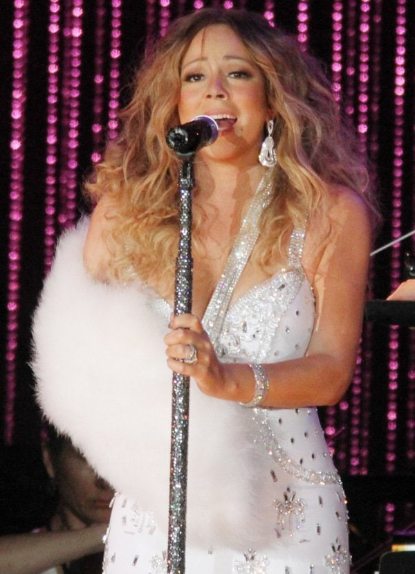 Mariah Carey performing at the 2013 Major League Baseball All-Star Charity Concert to benefit Sandy Relief at Central Park in New York City on July 13, 2013