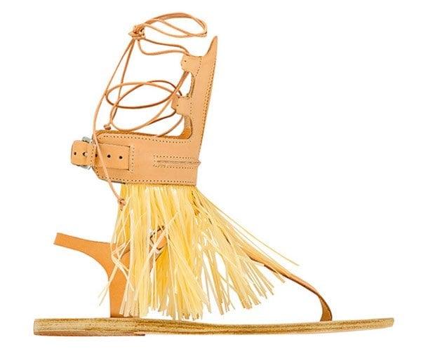 Marios Schwab Ancient Greek Sandals Natural
