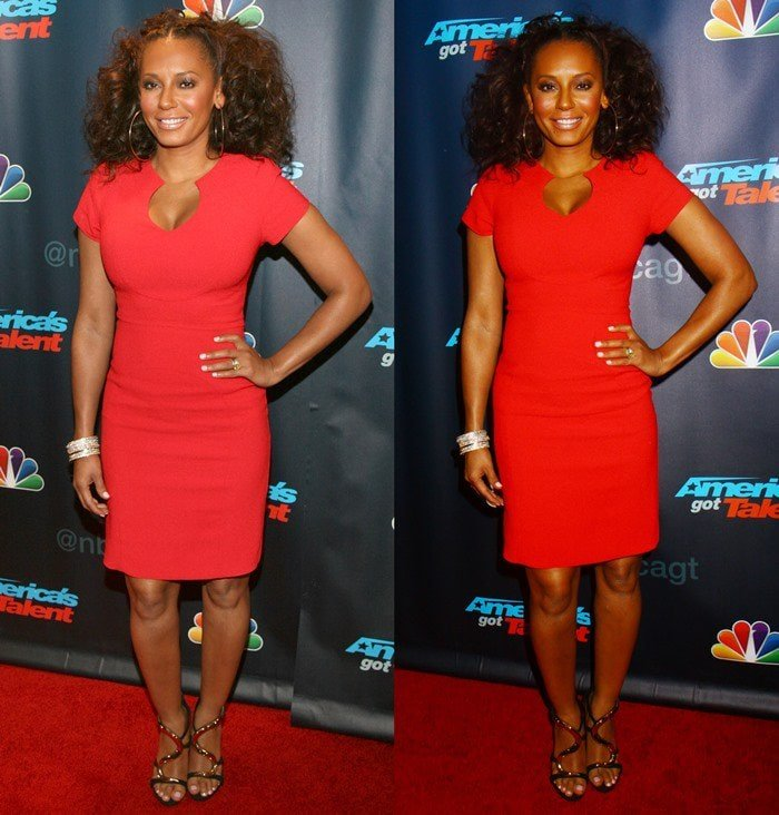 Mel B at a red carpet event for America's Got Talent at Radio City Music Hall in New York City on July 31, 2013