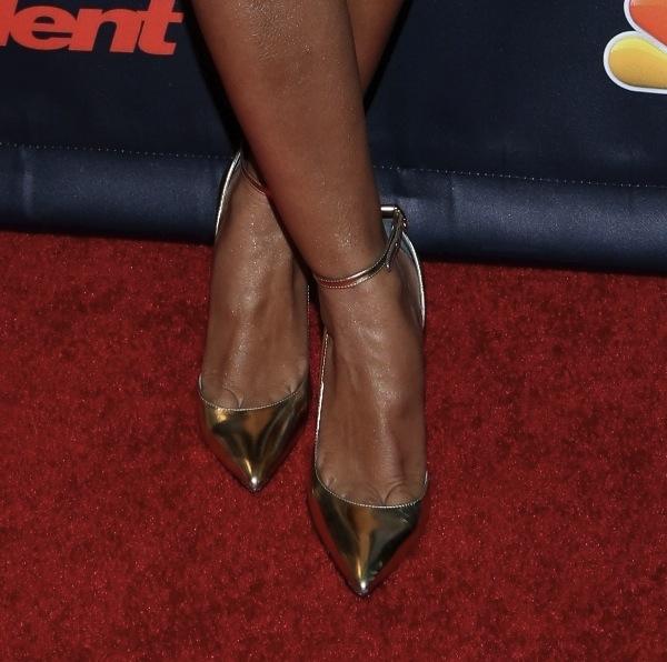 Mel B shoes Americas got talent nyc