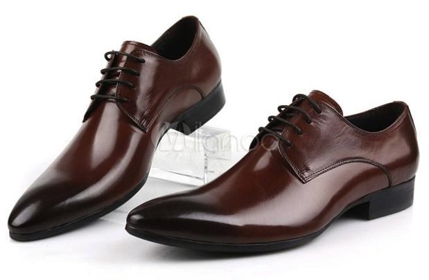 Milanoo Gradient Brown Dress Shoes2
