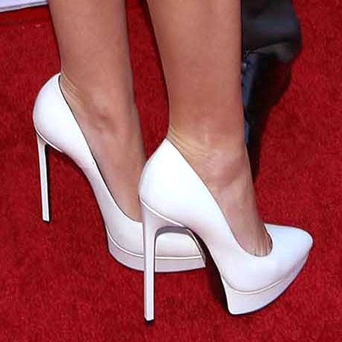 Miley Cyrus' favorite white platform pumps