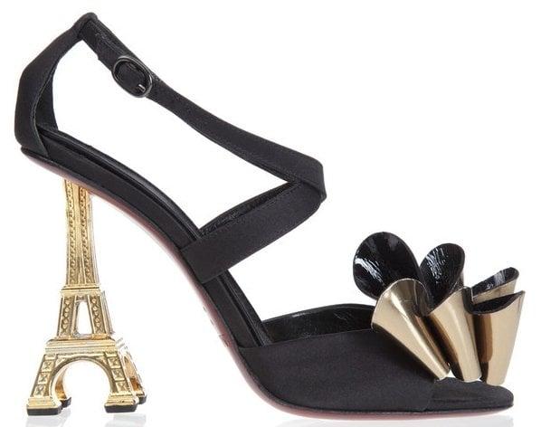 Mugnai Eiffel Tower Peep Toes