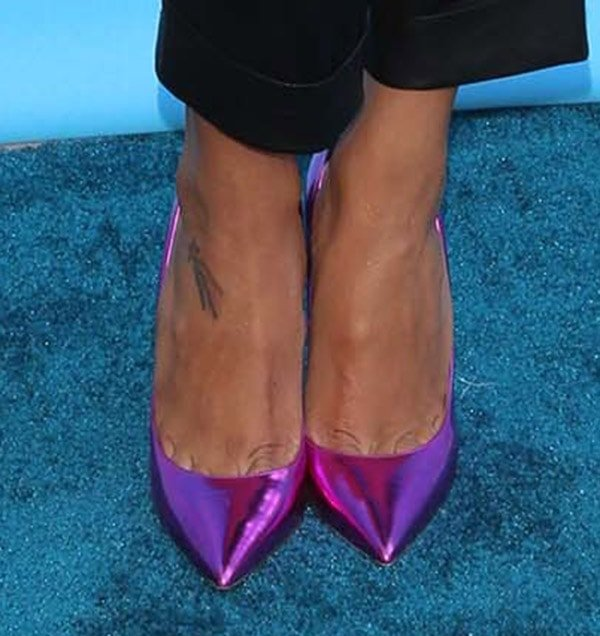 Naya Rivera in Jimmy Choo 'Anouk' pumps