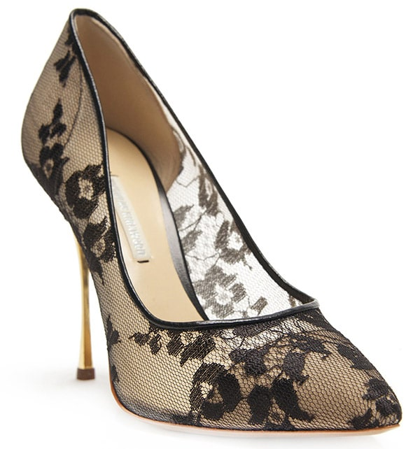 Nicholas Kirkwood Lace Pumps Black