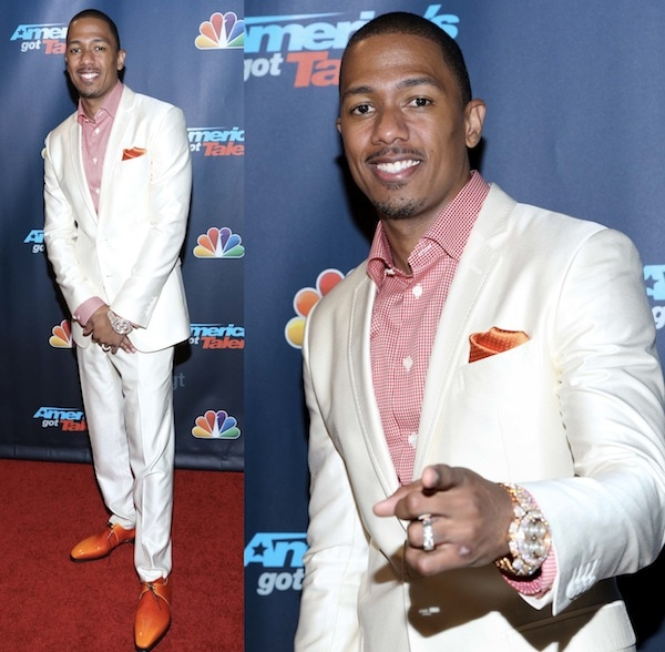 Nick Cannon stealing the spotlight at the 'America's Got Talent' Post Show Red Carpet