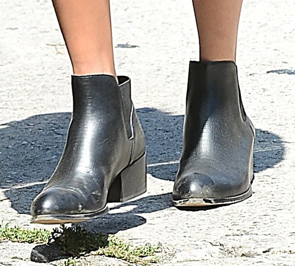 Nicole Richie's Warner ankle boots