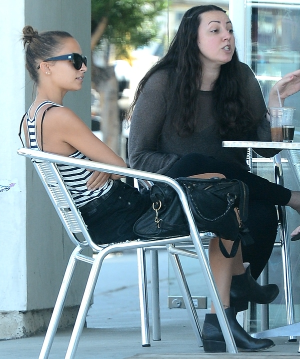 Nicole Richie having lunch with friends in West Hollywood on August 21, 2013