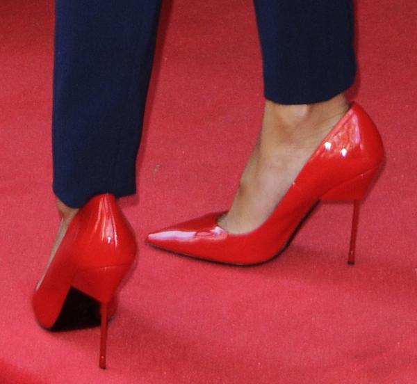 Nicole Scherzinger's red heels on the red carpet