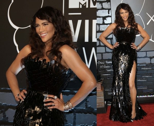 Paula Patton was not one of the best dressed at the VMAs