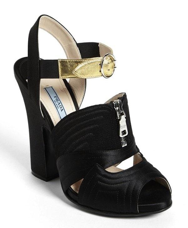 Prada Booties Black Gold