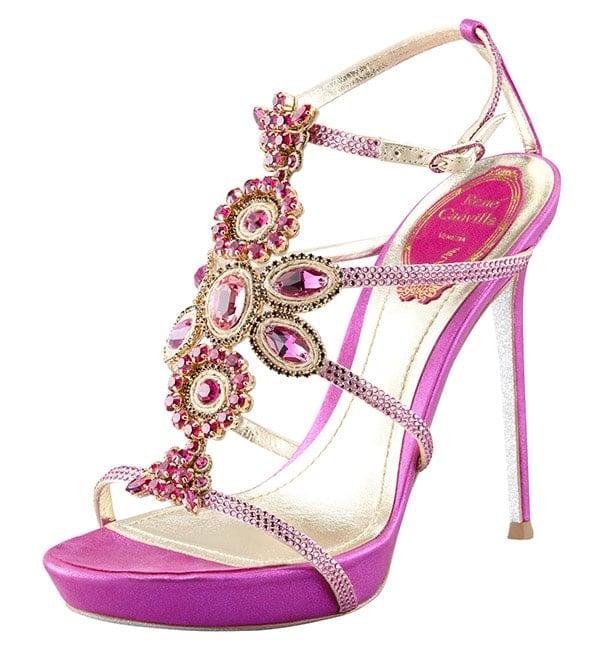 Rene Caovilla Crystal Beaded Sandals