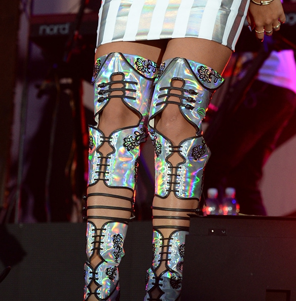 Rita Ora's shiny Sophia Webster boots